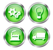 Green Business Icon Buttons Royalty Free Stock Image
