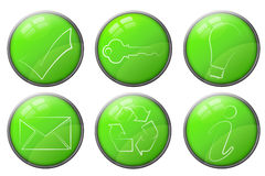 Green business icons Royalty Free Stock Image