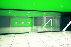 Green business interior. Luxurious green business interior. 3D Rendering Royalty Free Stock Photos