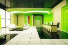 Green business interior Royalty Free Stock Image