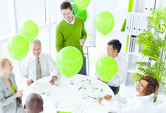 Green Business Meeting Office Concept Royalty Free Stock Photo