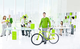 Green Business Office. Green business in office environment stock photography