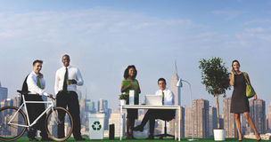 Green Business People Ecology Environmental Conservation Concept Royalty Free Stock Photo