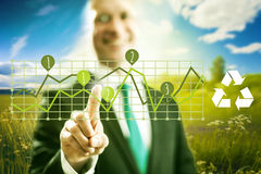 Green business Stock Image