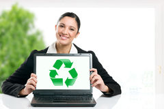 Green business recycling symbol Royalty Free Stock Image