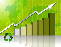 Green Business success - graph Royalty Free Stock Images