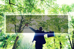 Green Business Success Happiness Forest Freedom Concept Stock Image