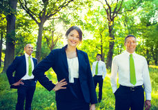 Green Business Team Environment Forest Concept.  stock photos