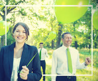Green Business Team Freedom Relax Harmony Concept Stock Images