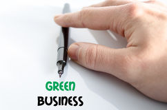 Green business text concept royalty free stock images