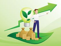 Free Green Business Trend Illustration Vector. Royalty Free Stock Photo - 192323945