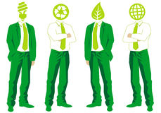 Green business, vector Royalty Free Stock Image