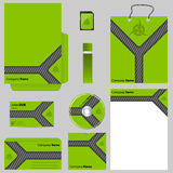 Green business vector set Stock Images