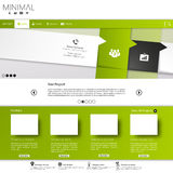 Green business website template Stock Photos