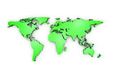 Green business world map Stock Image