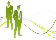 Green Businessman Royalty Free Stock Photography
