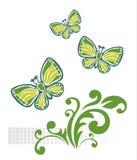 Green butterflies Royalty Free Stock Photo