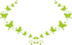 Green butterflies for greeting cards. And other kind of cards Stock Illustration