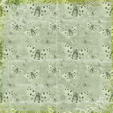 Green butterflies repeat pattern background Stock Photo