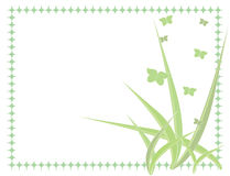 Green butterfly background. Green butterfly pastel vector background - 3rd of set of 4 pastel butterfly backgrounds Royalty Free Stock Image