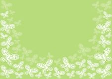 Green butterfly border Royalty Free Stock Photography