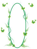 Green butterfly frame vector and illustration 01. Green frame vector and illustration royalty free illustration