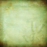 Green Butterfly Haze. A multi-layered, rich textured background for scrapbooking and design Royalty Free Stock Photo