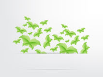 Green Butterfly Leaf Concept. With space for text Royalty Free Stock Photo
