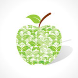 Green butterfly make a apple Royalty Free Stock Photography