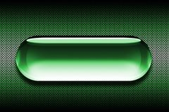 Green Button. Glass Button Royalty Free Illustration
