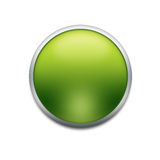 Green button. With splotch  isolated on white Royalty Free Stock Photos