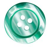 Green button for clothes isolated Stock Photos