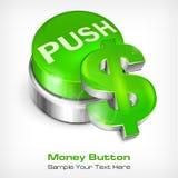 Green button with dollar Stock Photos
