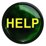 The green button help Royalty Free Stock Images
