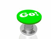 Green button with inscription Stock Images