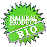 green button labeled natural product Royalty Free Stock Photography