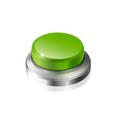Green button. Large green button on a white background Stock Photos
