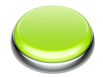 Green button with metallic elements Royalty Free Stock Photos