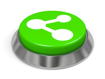 Green button with share sign Royalty Free Stock Photography