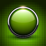 Green button shiny metallic Royalty Free Stock Photos
