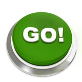 Green button with text go! Stock Photo