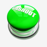 Green button on white background Royalty Free Stock Photo