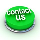 A green button with the words. Contact Us on it Stock Photography