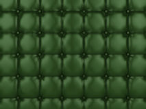 Green buttoned leather Stock Image