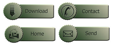 Green buttons Royalty Free Stock Photography