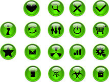 Green buttons. Many green buttons  illustration Royalty Free Stock Images