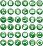 Green buttons Royalty Free Stock Photo