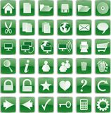 Green buttons Stock Image