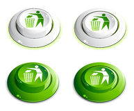 Green buttons Stock Photography