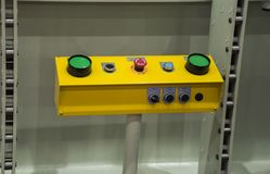 green buttons push switch Stock Image
